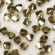 4mm Swarovski 5328 Xilion Metallic Light Gold x2 - 10